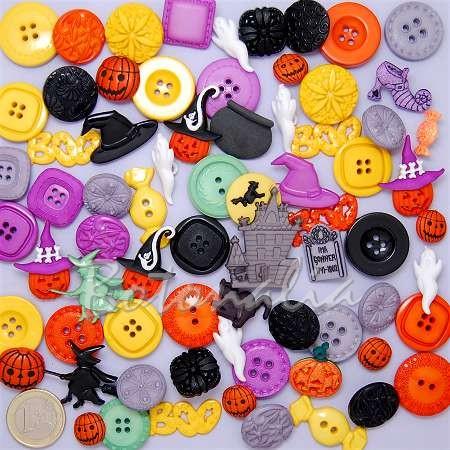 Botones y adornos para Halloween (Grab bag)