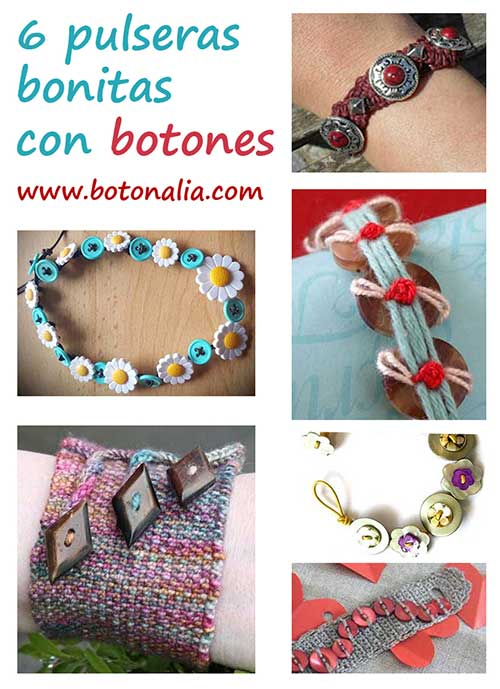 84e4d2738454 6 Pulseras bonitas con botones – Botonalia
