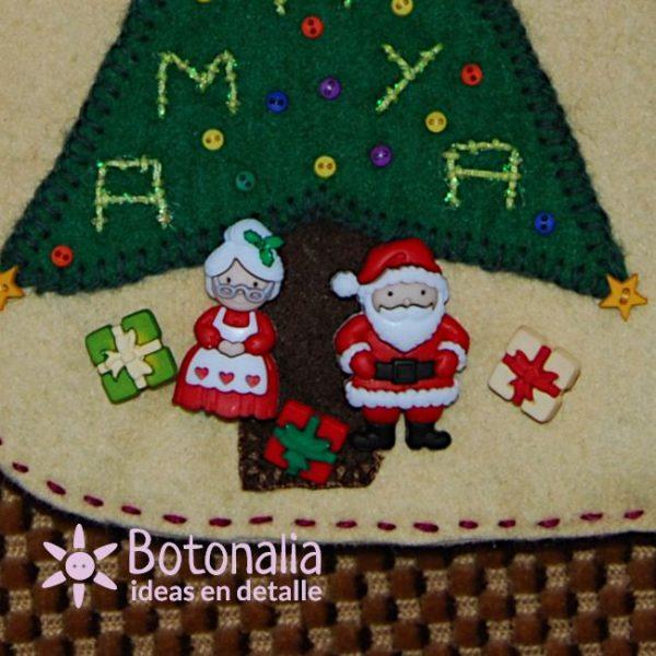 Botones de Santa Claus y Mrs. Claus