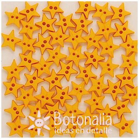 Paquete de botones amarillos con forma de estrellita