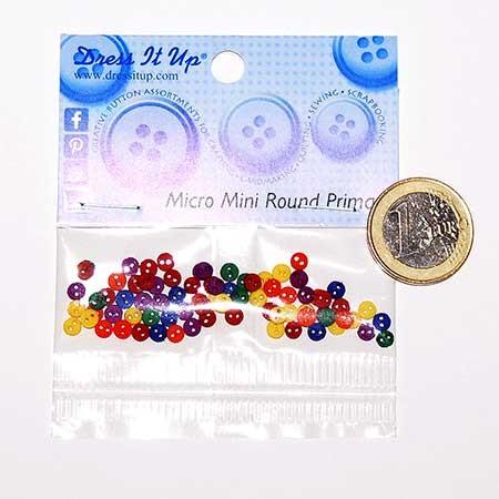 Micro botones de colores primarios