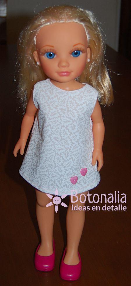Vestido Para Nancy Con Botones De Corazón Botonalia