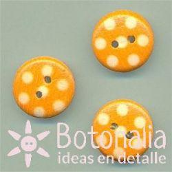 Orange polka dots 15 mm