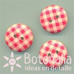 Gingham in red 15 mm