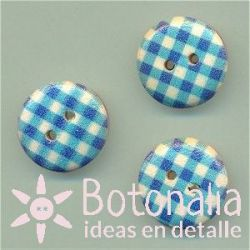 Vichy azul madera 15 mm