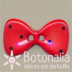 Bow tie in red 25 mm