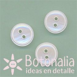 Round button - with a pearl effect 11 mm