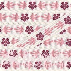 Grosgrain in red and pink
