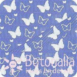 Grosgrain in blue with butterflies