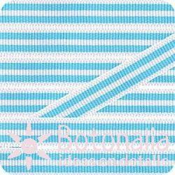 Grosgrain blanco y azul