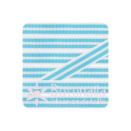 Grosgrain in white and blue