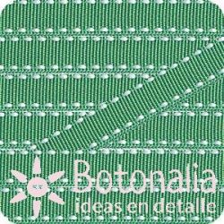 Grosgrain in green with stitched decorations