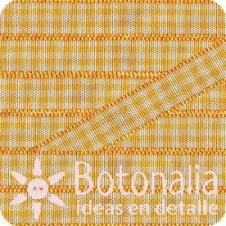 Grosgrain gingham in yellow orange