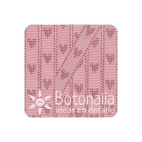 Grosgrain in pink with hearts in red