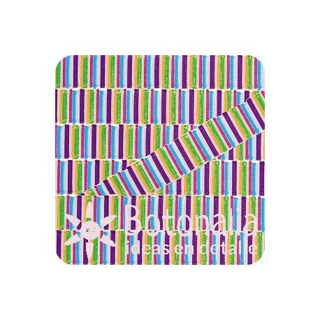 Grosgrain multicolor stripes 2