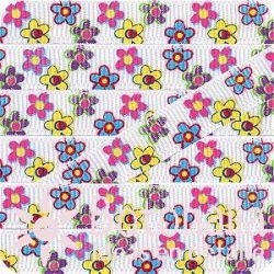 Grosgrain multicolor flowers