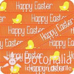 Grosgrain Happy Easter naranja