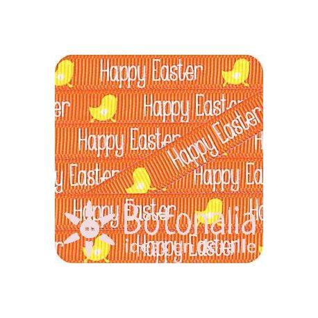 Grosgrain Happy Easter naranja