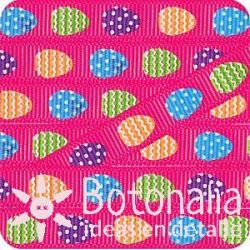 Grosgrain Easter in hot pink