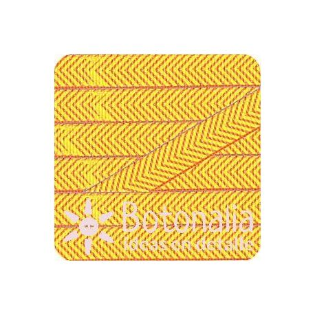 Grosgrain espiga amarillo y naranja
