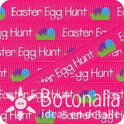 Grosgrain in hot pink Easter Egg Hunt