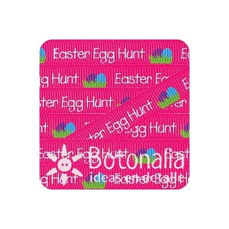 Grosgrain in hot pink Easter Egg Hunt