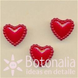 Heart in red 14 mm