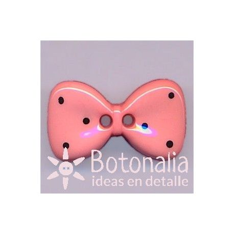 Bow tie in pink 25 mm