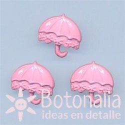 Beach umbrella in pink 15 mm