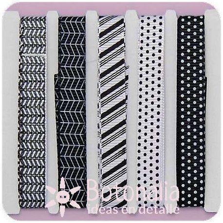 Assorted ribbons Back to Basics Monochrome