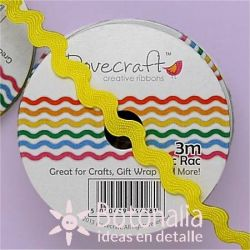 Zig-zag ribbon Dovecraft in yellow