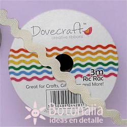 Cinta zig-zag Dovecraft beige