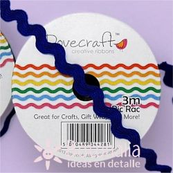 Zig-zag ribbon Dovecraft in dark blue