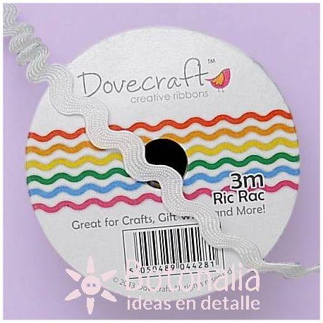 Cinta zig-zag Dovecraft blanca