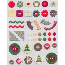 Pegatinas navideñas variadas 2