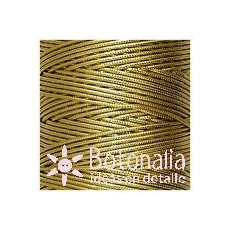 Cordón metalizado dorado