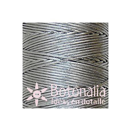 Cordón metalizado plateado
