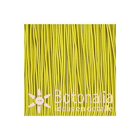 5m Cordón elástico amarillo