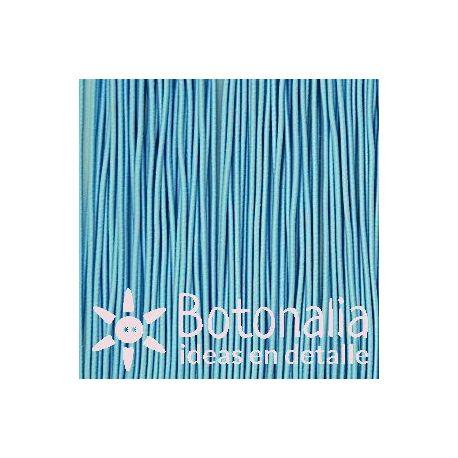 5m Cordón elástico azul claro