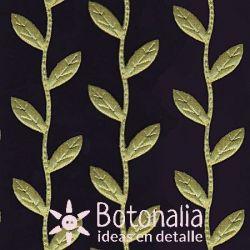 Novelty ribbon green leaves