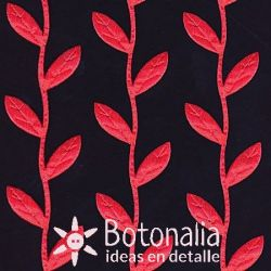Novelty ribbon red leaves