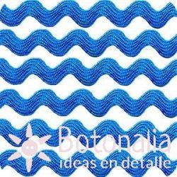 Cupcake Boutique - Cinta zig-zag azul