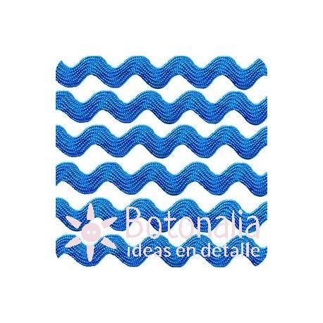 Cupcake Boutique - Zig-zag ribbon in blue