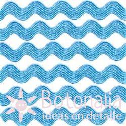 Cupcake Boutique - Cinta zig-zag azul claro