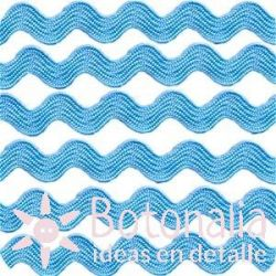 Cupcake Boutique - Zig-zag ribbon in light blue