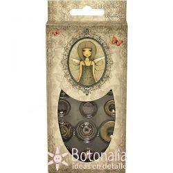 Metal buttons Mirabelle