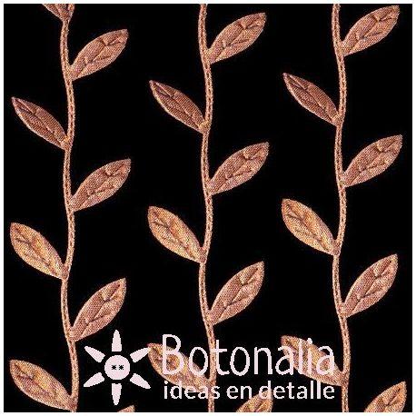 Novelty ribbon - brown leaves