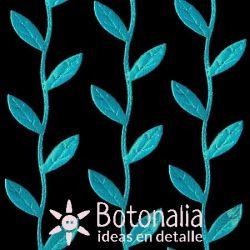 Cinta de fantasía hojas azules