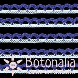 White and blue cotton lace