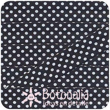 Bias tape polka dots black